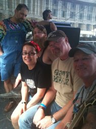 Backstage with Hayseed Dixie