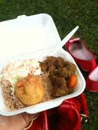 Curried goat at St. Paul's Carnival