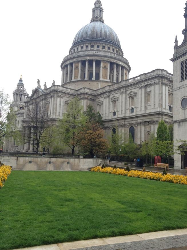 Exploring a rainy - but still pretty - London