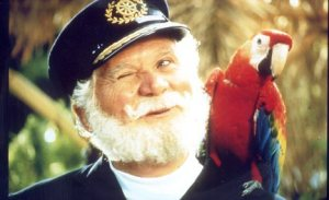 SCENE FROM TELEVISION ADVERT FOR 'BIRDSEYE' SHOWS CAPTAIN BIRDSEYE