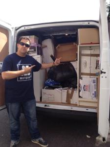Classic Tetris Van, lovingly packed by yours truly.